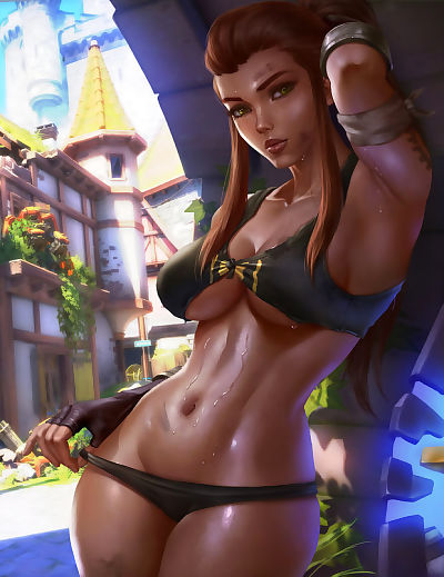 Brigitte worked up a sweat.