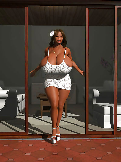 Gorgeous sultry ebony 3d..