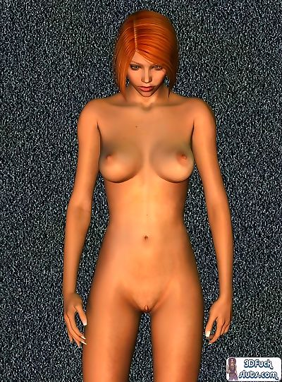 Nude redhead toon babe..